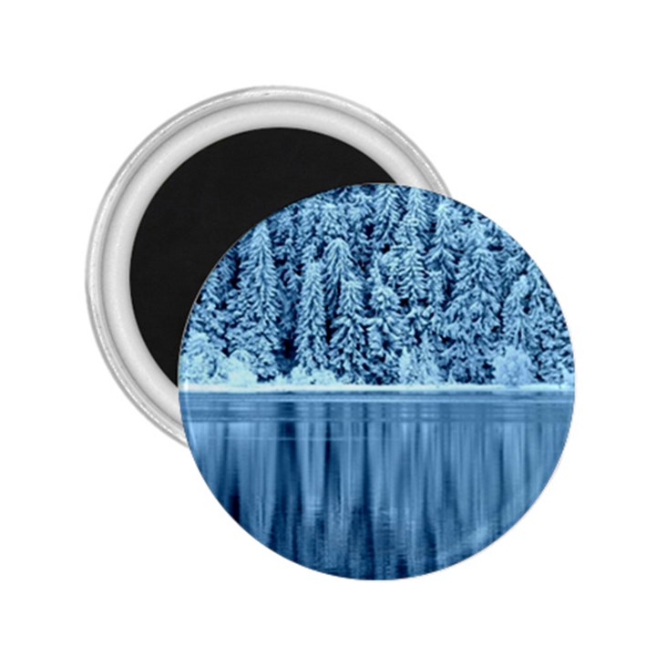 Snowy Forest Reflection Lake 2.25  Magnets