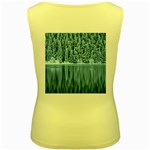 Snowy Forest Reflection Lake Women s Yellow Tank Top Back