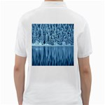Snowy Forest Reflection Lake Golf Shirt Back