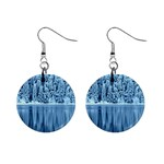 Snowy Forest Reflection Lake Mini Button Earrings Front