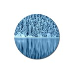 Snowy Forest Reflection Lake Magnet 3  (Round) Front