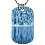 Snowy Forest Reflection Lake Dog Tag (One Side) Front