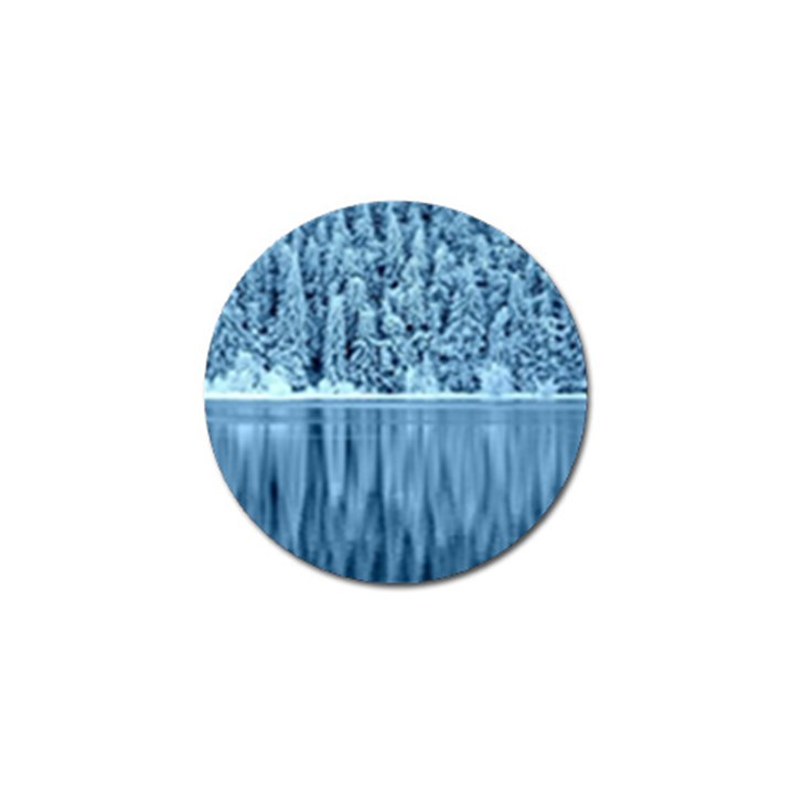 Snowy Forest Reflection Lake Golf Ball Marker