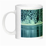 Snowy Forest Reflection Lake Night Luminous Mugs Left