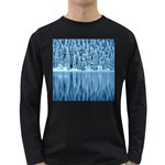Snowy Forest Reflection Lake Long Sleeve Dark T-Shirt Front
