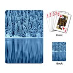 Snowy Forest Reflection Lake Playing Cards Single Design Back