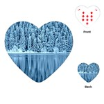 Snowy Forest Reflection Lake Playing Cards (Heart) Front
