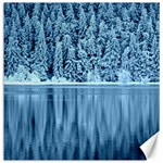 Snowy Forest Reflection Lake Canvas 20  x 20  20 x20 Canvas - 1