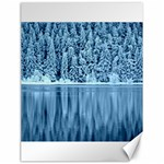 Snowy Forest Reflection Lake Canvas 18  x 24  24 x18 Canvas - 1