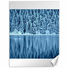 Snowy Forest Reflection Lake Canvas 36  X 48