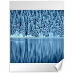 Snowy Forest Reflection Lake Canvas 36  x 48  48 x36 Canvas - 1