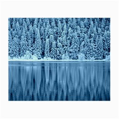 Snowy Forest Reflection Lake Small Glasses Cloth (2 Side)