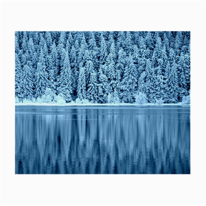 Snowy Forest Reflection Lake Small Glasses Cloth (2-Side)