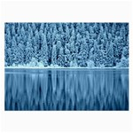 Snowy Forest Reflection Lake Large Glasses Cloth (2-Side) Front