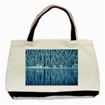 Snowy Forest Reflection Lake Basic Tote Bag (Two Sides) Back