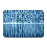 Snowy Forest Reflection Lake Plate Mats 18 x12  Plate Mat