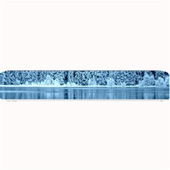 Snowy Forest Reflection Lake Small Bar Mats