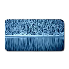 Snowy Forest Reflection Lake Medium Bar Mats by Alisyart