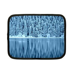 Snowy Forest Reflection Lake Netbook Case (small)