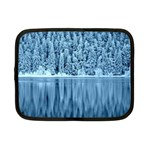 Snowy Forest Reflection Lake Netbook Case (Small) Front