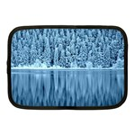 Snowy Forest Reflection Lake Netbook Case (Medium) Front