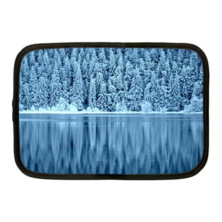 Snowy Forest Reflection Lake Netbook Case (Medium)