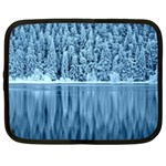 Snowy Forest Reflection Lake Netbook Case (Large) Front