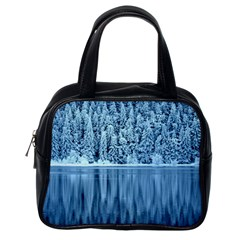 Snowy Forest Reflection Lake Classic Handbag (one Side) by Alisyart