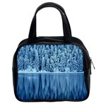 Snowy Forest Reflection Lake Classic Handbag (Two Sides) Front