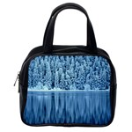 Snowy Forest Reflection Lake Classic Handbag (Two Sides) Back