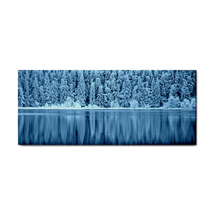Snowy Forest Reflection Lake Hand Towel