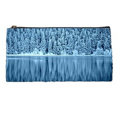 Snowy Forest Reflection Lake Pencil Cases