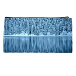 Snowy Forest Reflection Lake Pencil Cases Back