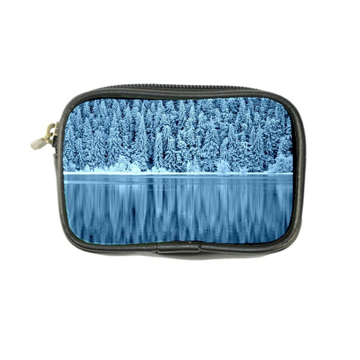 Snowy Forest Reflection Lake Coin Purse