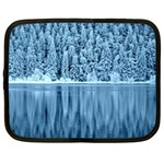 Snowy Forest Reflection Lake Netbook Case (XXL) Front