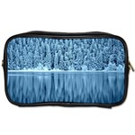 Snowy Forest Reflection Lake Toiletries Bag (One Side) Front