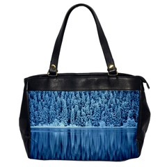 Snowy Forest Reflection Lake Oversize Office Handbag