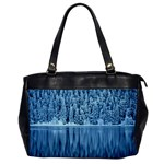 Snowy Forest Reflection Lake Oversize Office Handbag Front