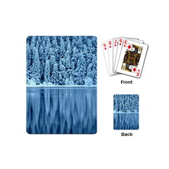 Snowy Forest Reflection Lake Playing Cards (mini)