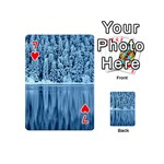 Snowy Forest Reflection Lake Playing Cards 54 (Mini) Front - Heart7