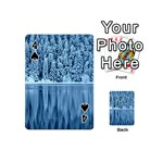 Snowy Forest Reflection Lake Playing Cards 54 (Mini) Front - Spade4