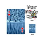 Snowy Forest Reflection Lake Playing Cards 54 (Mini) Front - Heart9