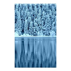 Snowy Forest Reflection Lake Shower Curtain 48  X 72  (small)  by Alisyart