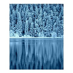 Snowy Forest Reflection Lake Shower Curtain 60  X 72  (medium)