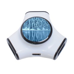 Snowy Forest Reflection Lake 3 Port Usb Hub by Alisyart