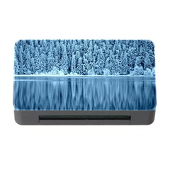 Snowy Forest Reflection Lake Memory Card Reader With Cf by Alisyart