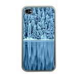 Snowy Forest Reflection Lake Apple iPhone 4 Case (Clear) Front