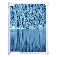 Snowy Forest Reflection Lake Apple Ipad 2 Case (white)