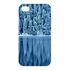 Snowy Forest Reflection Lake Apple Iphone 4/4s Hardshell Case