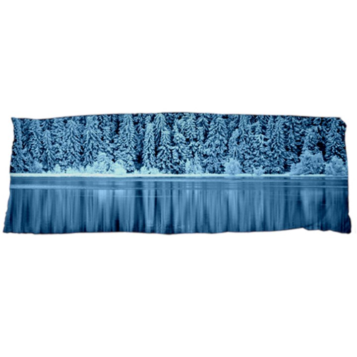 Snowy Forest Reflection Lake Body Pillow Case Dakimakura (Two Sides)